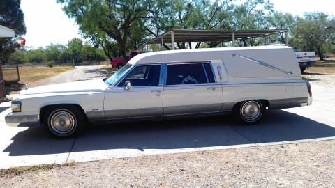 1992 Cadillac DeVille Hearse Funeral Coach for sale