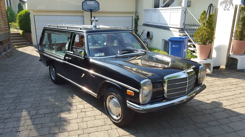 1976 funeral coach mercedes benz hearse w115 8 200