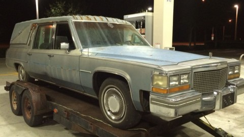 1981 Cadillac Superior Hearse Funeral Coach rat rod for sale