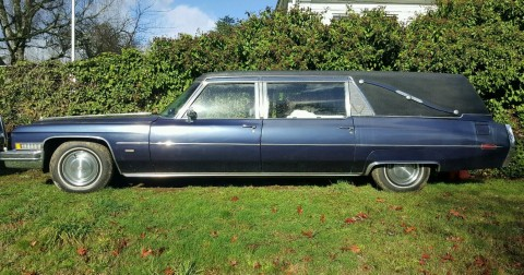 customized 1970 Cadillac Fleetwood M+M hearse for sale