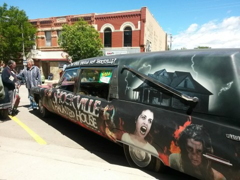 Awesome Hearse 1971 Cadillac with Vanpires, Gouls, Goblins, Zombie for sale