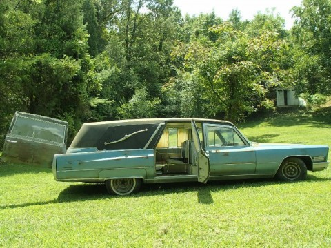 1967 Cadillac Fleetwood Hearse Ambulance Combination Barn Find for sale