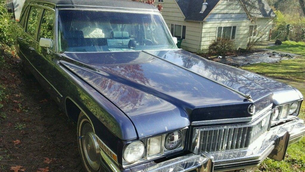 1973 Cadillac Deville Hearse