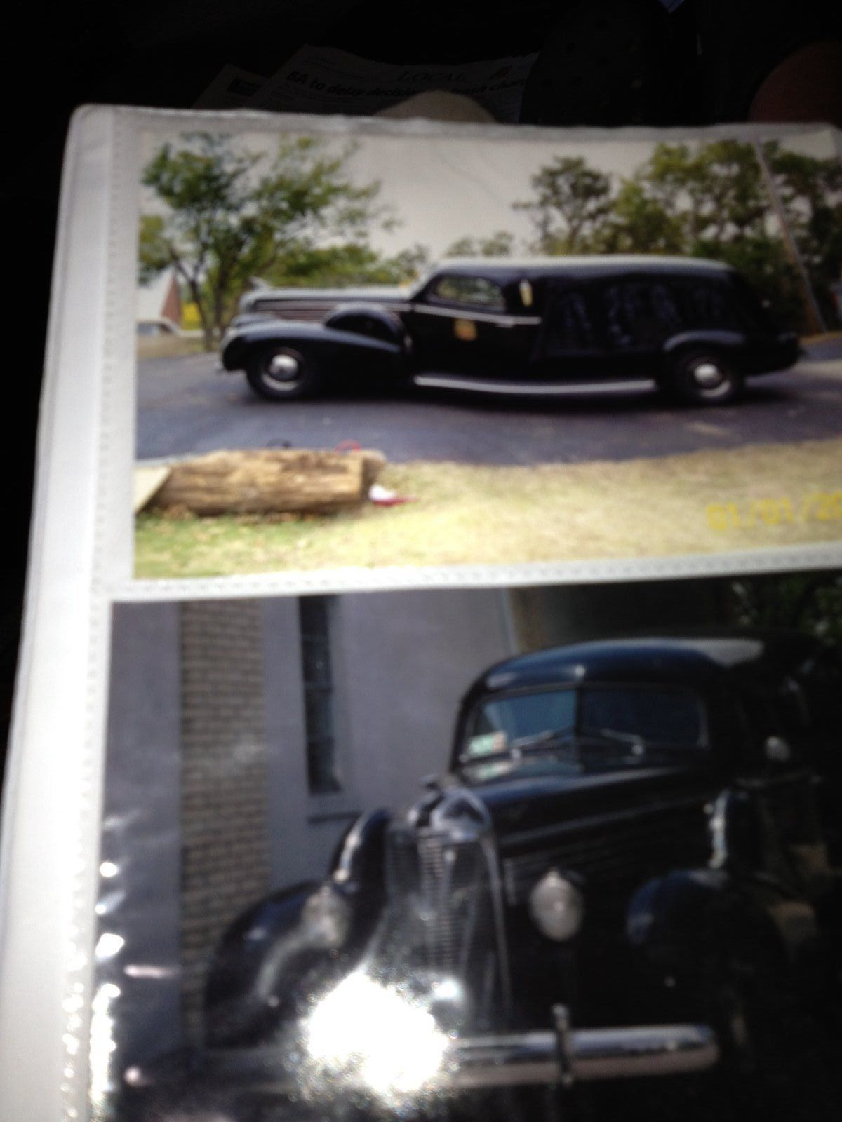 Lasalle S S Damascus Carved Side Hearse For Sale