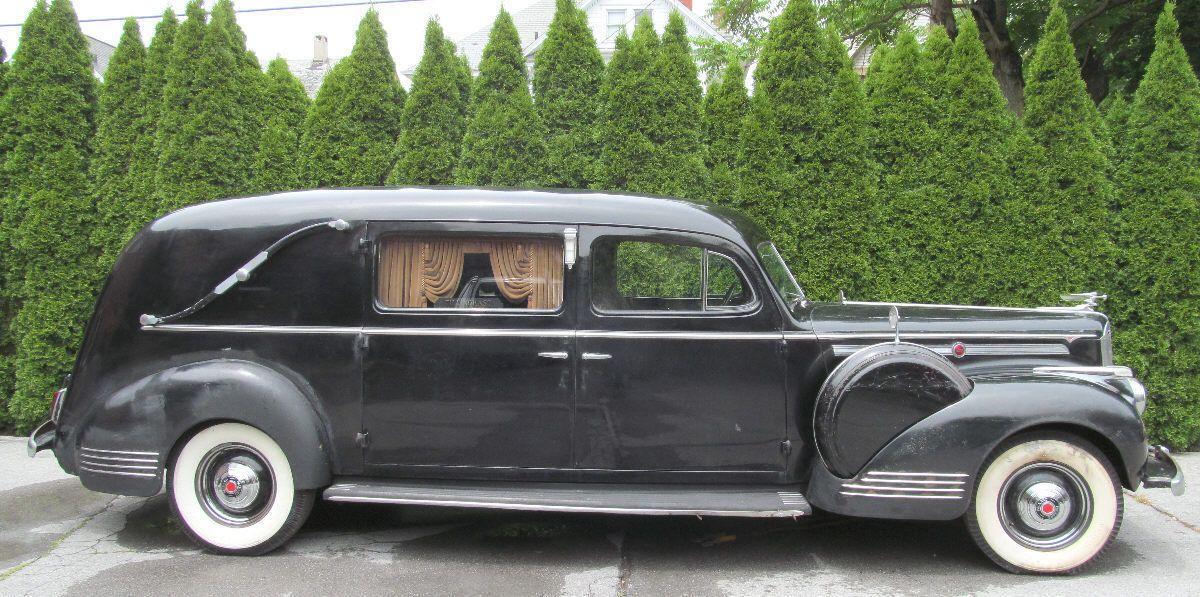 1942 packard henney 120 hearse funeral car for sale. Black Bedroom Furniture Sets. Home Design Ideas