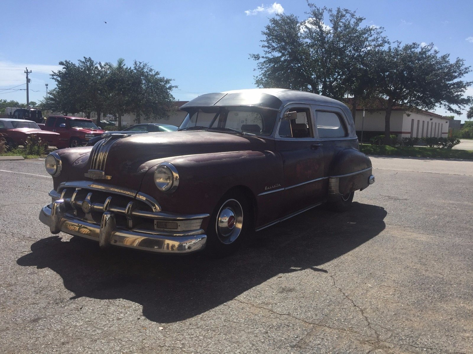 Customized 1950 Pontiac Hearse For Sale