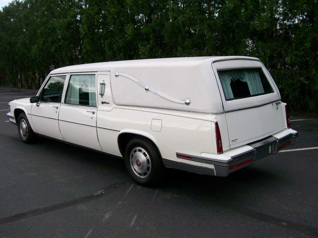 Runs Great Cadillac Fleetwood Hearse For Sale X