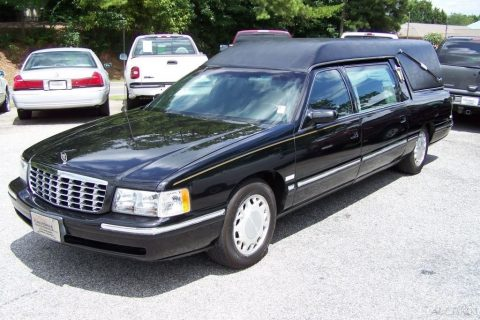 Sharp and clean 1998 Cadillac Deville Hearse M&M for sale