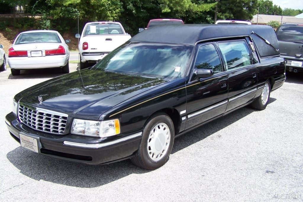 sharp and clean 1998 cadillac deville hearse m m for sale. Black Bedroom Furniture Sets. Home Design Ideas