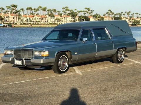 mint 1991 Cadillac Brougham MILLER/METEOR hearse for sale