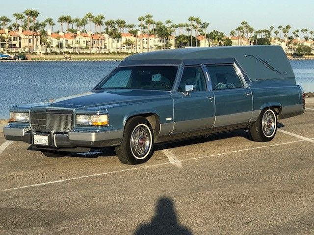 mint 1991 Cadillac Brougham MILLER/METEOR hearse