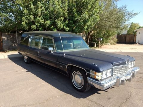 needs paint 1974 Cadillac Miller Meteor hearse for sale
