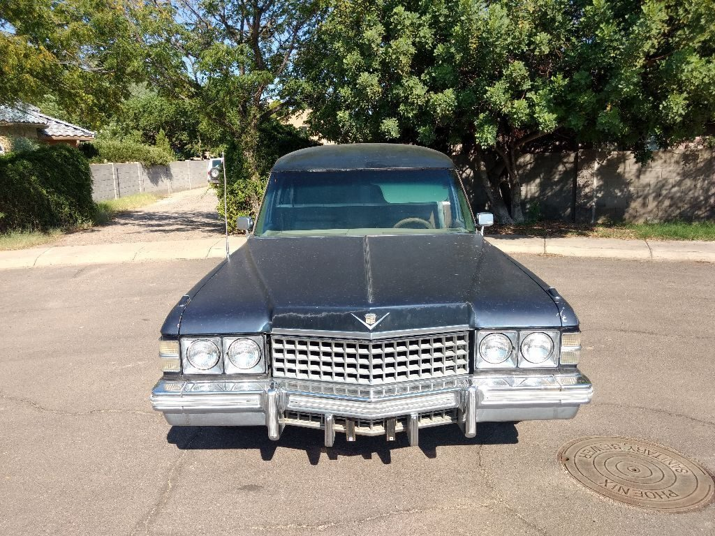 needs paint 1974 Cadillac Miller Meteor hearse