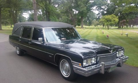 new parts 1973 Cadillac Miller-Meteor hearse for sale