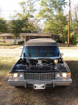 Rebuilt engine 1974 Cadillac Fleetwood Superior Hearse for sale