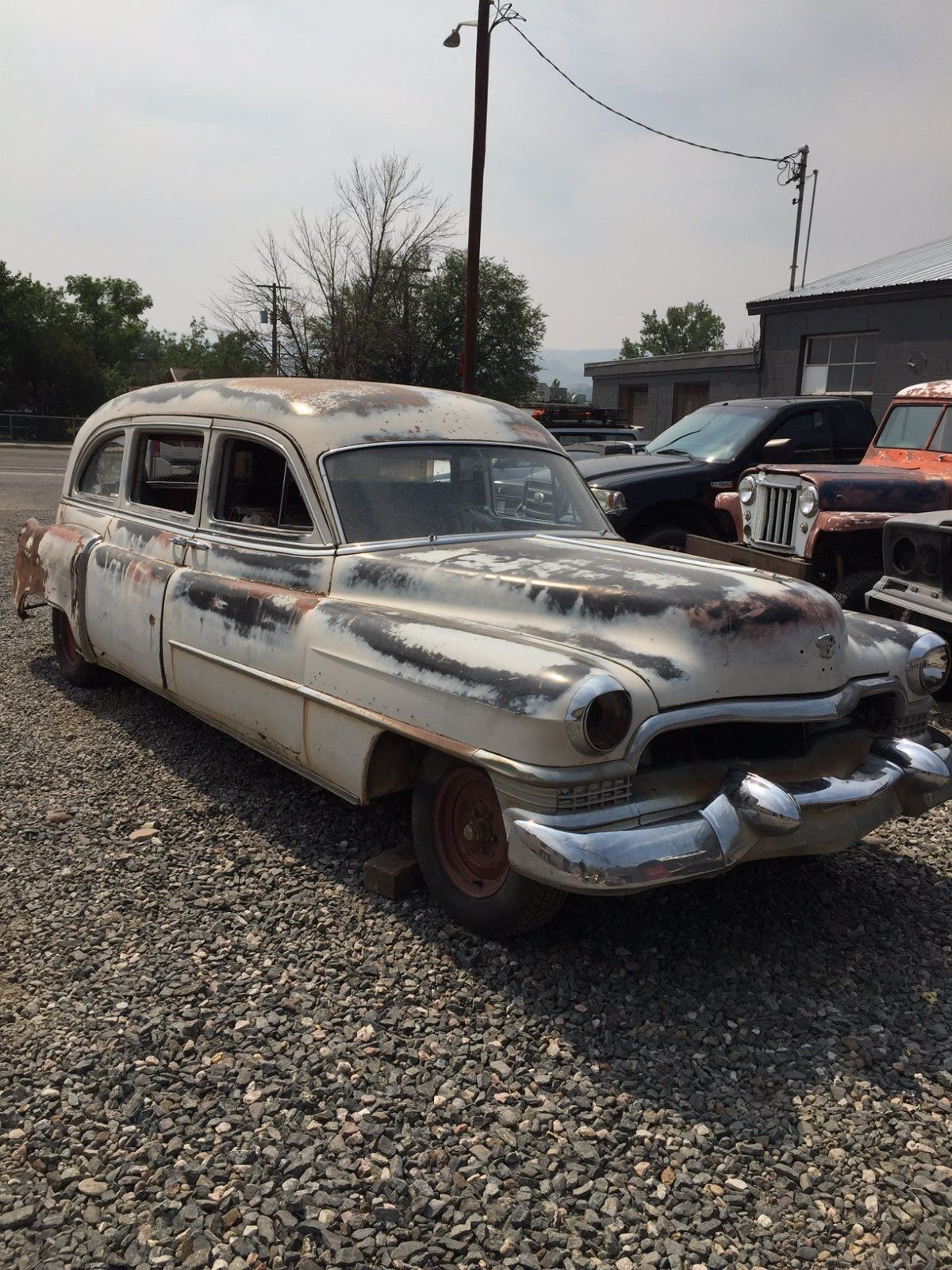 Almost Complete 1951 Cadillac Hearse For Sale