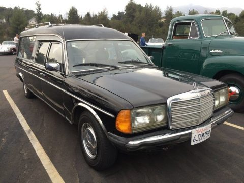 clean 1979 Mercedes Benz 240D hearse for sale