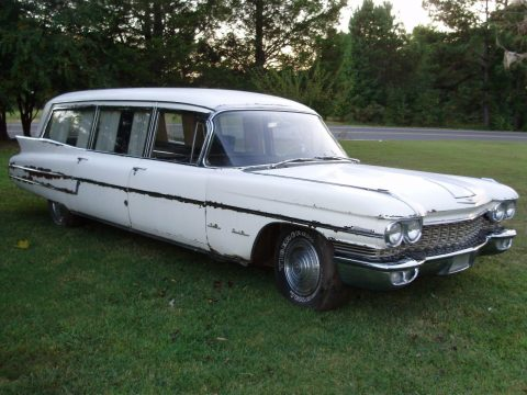 pretty much solid 1960 Cadillac Hearse Ambulance Combination S&S for sale