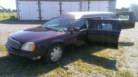 clean 2003 Cadillac Deville Superior hearse for sale