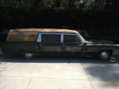 converted to limousine 1967 Cadillac Fleetwood M&M Hearse for sale