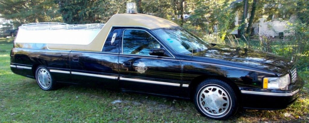 Needs New Engine 1999 Cadillac Brougham Hearse For Sale