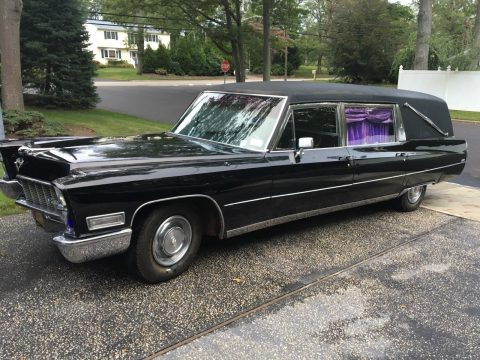very clean 1968 Cadillac Miller-Meteor hearse for sale
