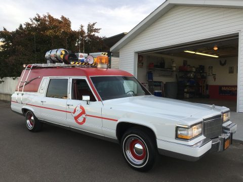 very clean 1992 Cadillac Ghostbusters Ecto 1 hearse for sale