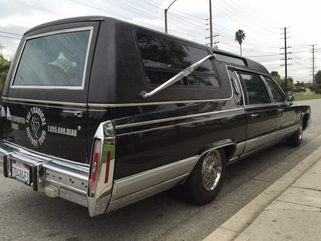 converted 1991 Cadillac Brougham hearse