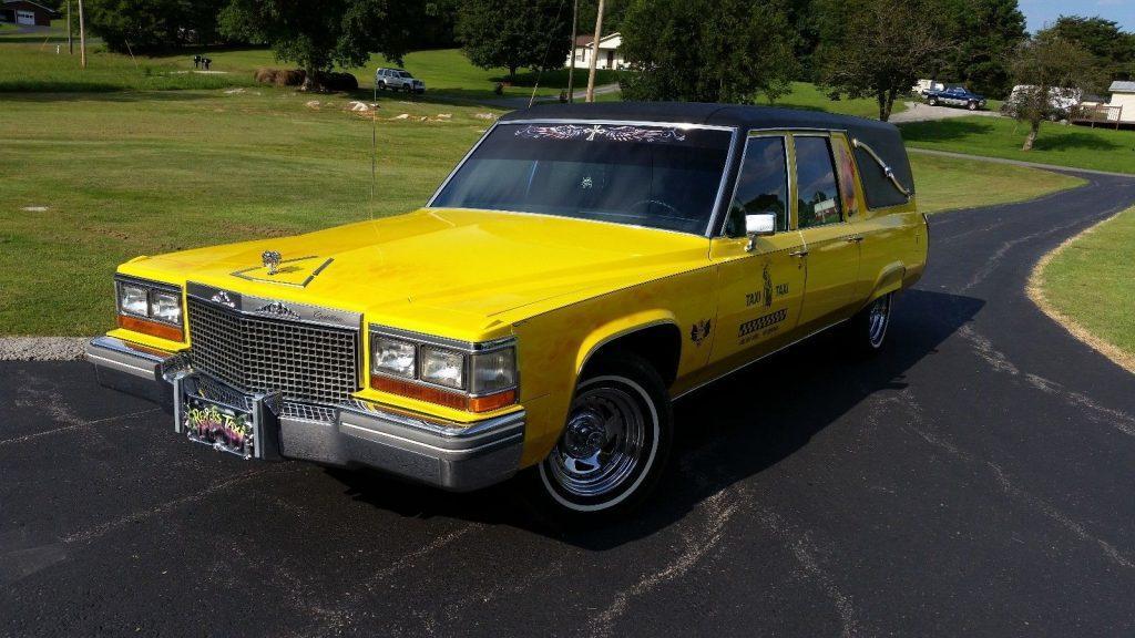 customized 1981 Cadillac hearse