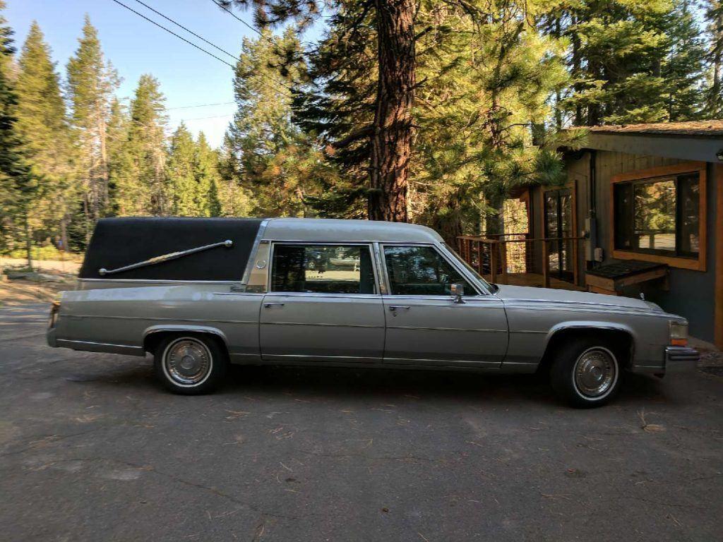 great shape 1986 Cadillac Fleetwood hearse