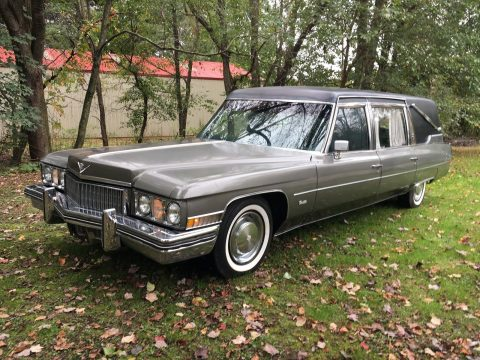 minor damage 1973 Cadillac Superior Hearse for sale