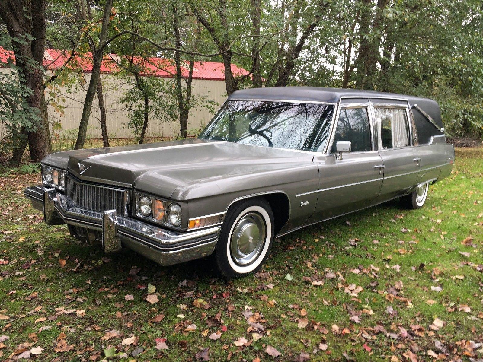minor damage 1973 Cadillac Superior Hearse for sale