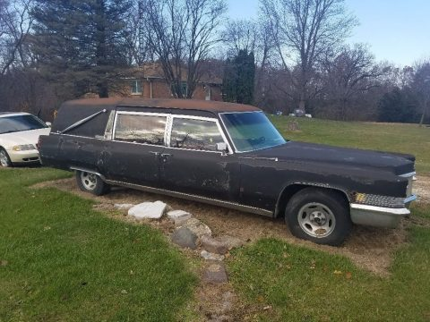 needs work 1970 Cadillac DeVille hearse for sale