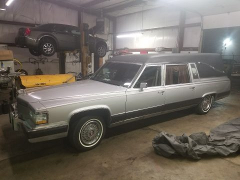 unique 1991 Cadillac Fleetwood brougham hearse for sale