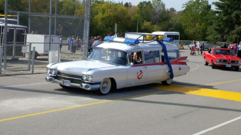 beautiful 1959 Cadillac Fleetwood S&S Ecto 1 Hearse for sale