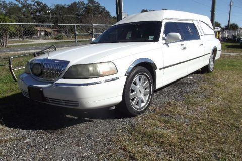 serviced and garaged 2001 Lincoln Town Car Hearse for sale