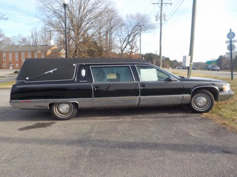 very clean 1996 Cadillac Fleetwood Sayers and Scoville hearse for sale