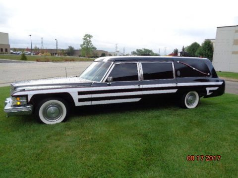 vintage 1974 Cadillac Fleetwood Hearse S&S for sale