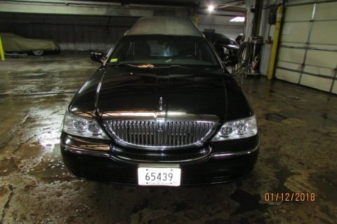 low miles 2009 Lincoln Town Car Superior hearse for sale