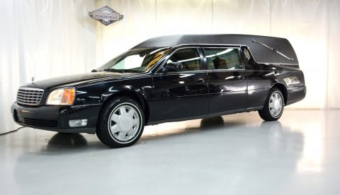 very clean 2000 Cadillac Deville Eureka Coach hearse for sale