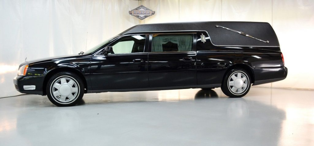 very clean 2000 Cadillac Deville Eureka Coach hearse for sale