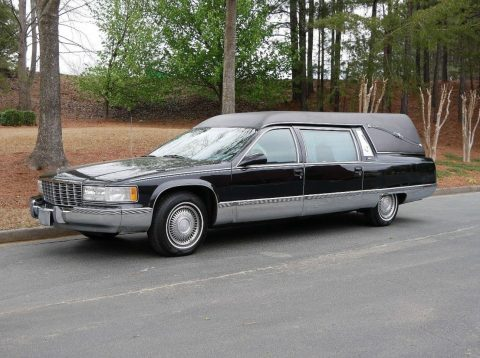 low miles 1996 Cadillac Fleetwood Superior hearse for sale