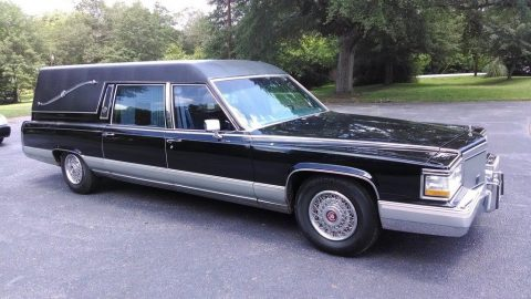 recently retired 1992 Cadillac Fleetwood Brougham hearse for sale