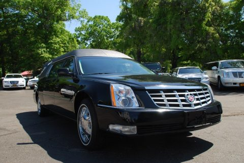 repaired 2010 Cadillac DTS Black hearse for sale