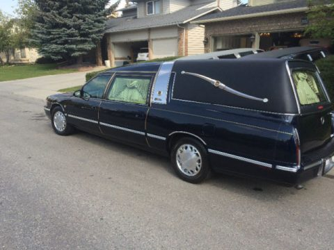 casket equipped 1998 Cadillac DeVille hearse for sale