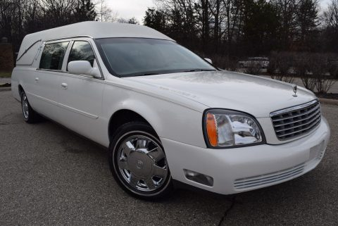 low miles 2004 Cadillac Deville Hearse for sale
