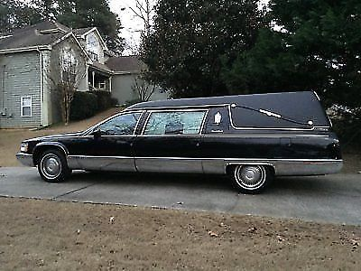 serviced 1994 Cadillac S&S hearse for sale