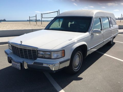top of the line 1996 Cadillac Commercial Chassis hearse for sale
