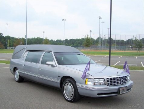 garaged 1997 Cadillac Deville Hearse for sale