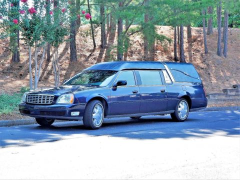 low miles 2003 Cadillac DeVille S&S Coach hearse for sale